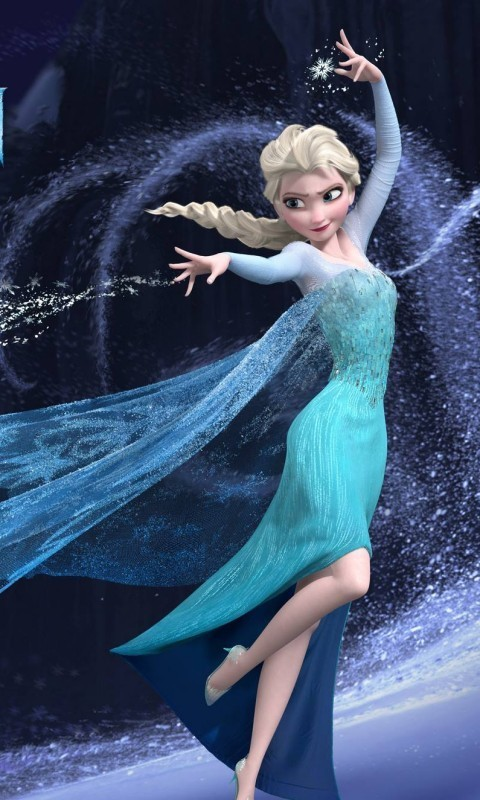 Elsa Frozen phone wallpaper by pegasisterhannah 480x800