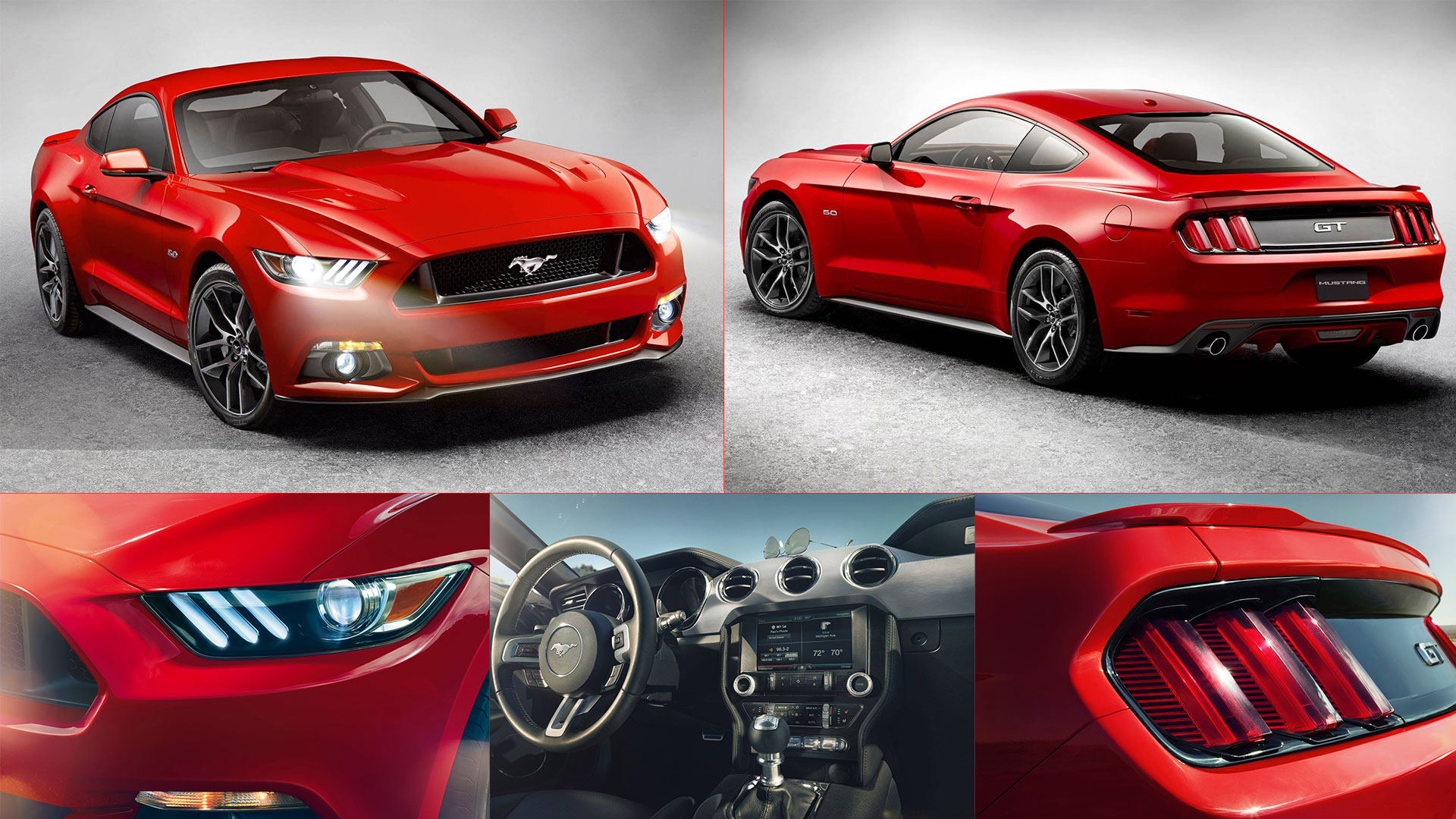 2015 Ford Mustang HD Desktop Wallpaper 1920x1080