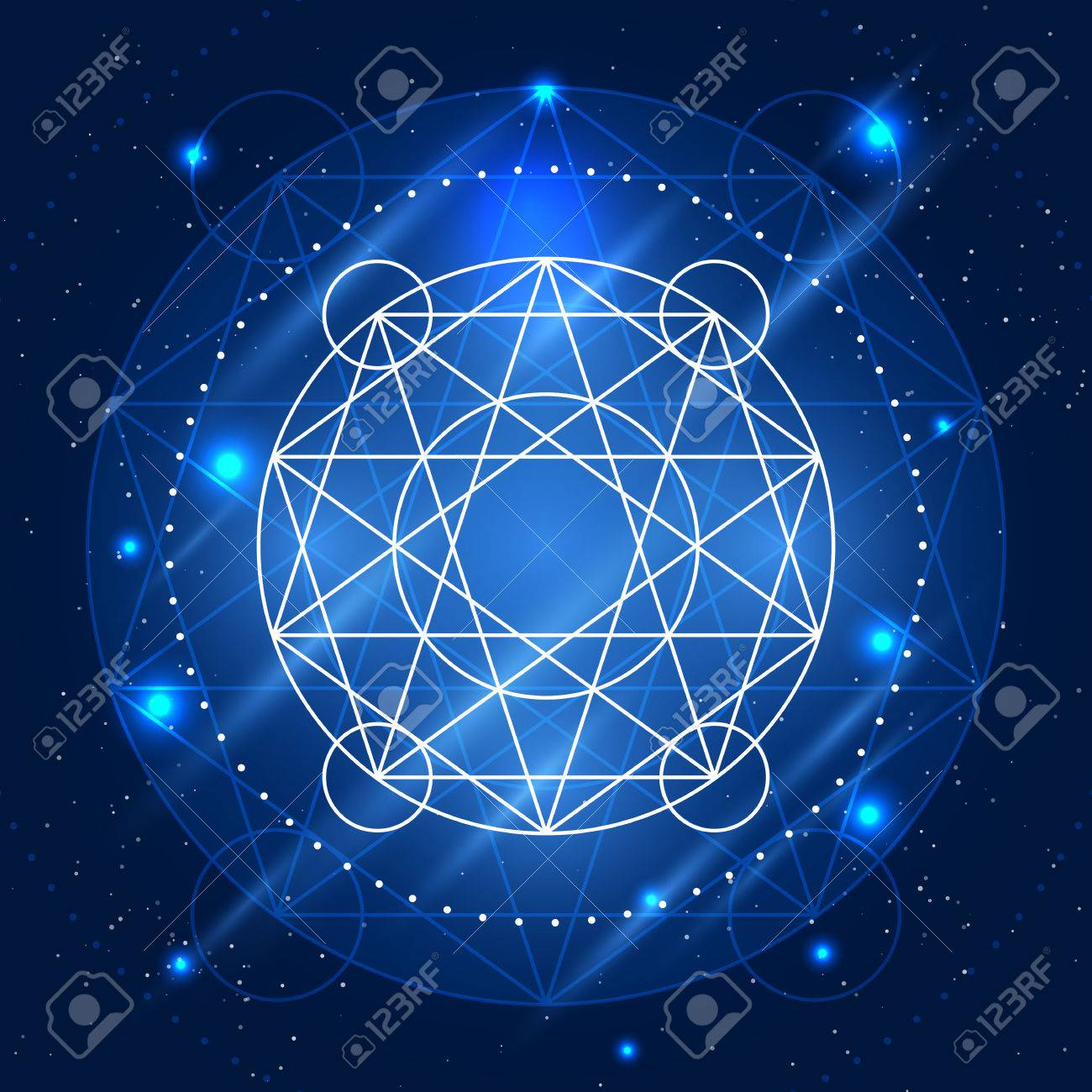 Magic Geometry Sign Vector Alchemy Mystical Symbol On Space 1300x1300