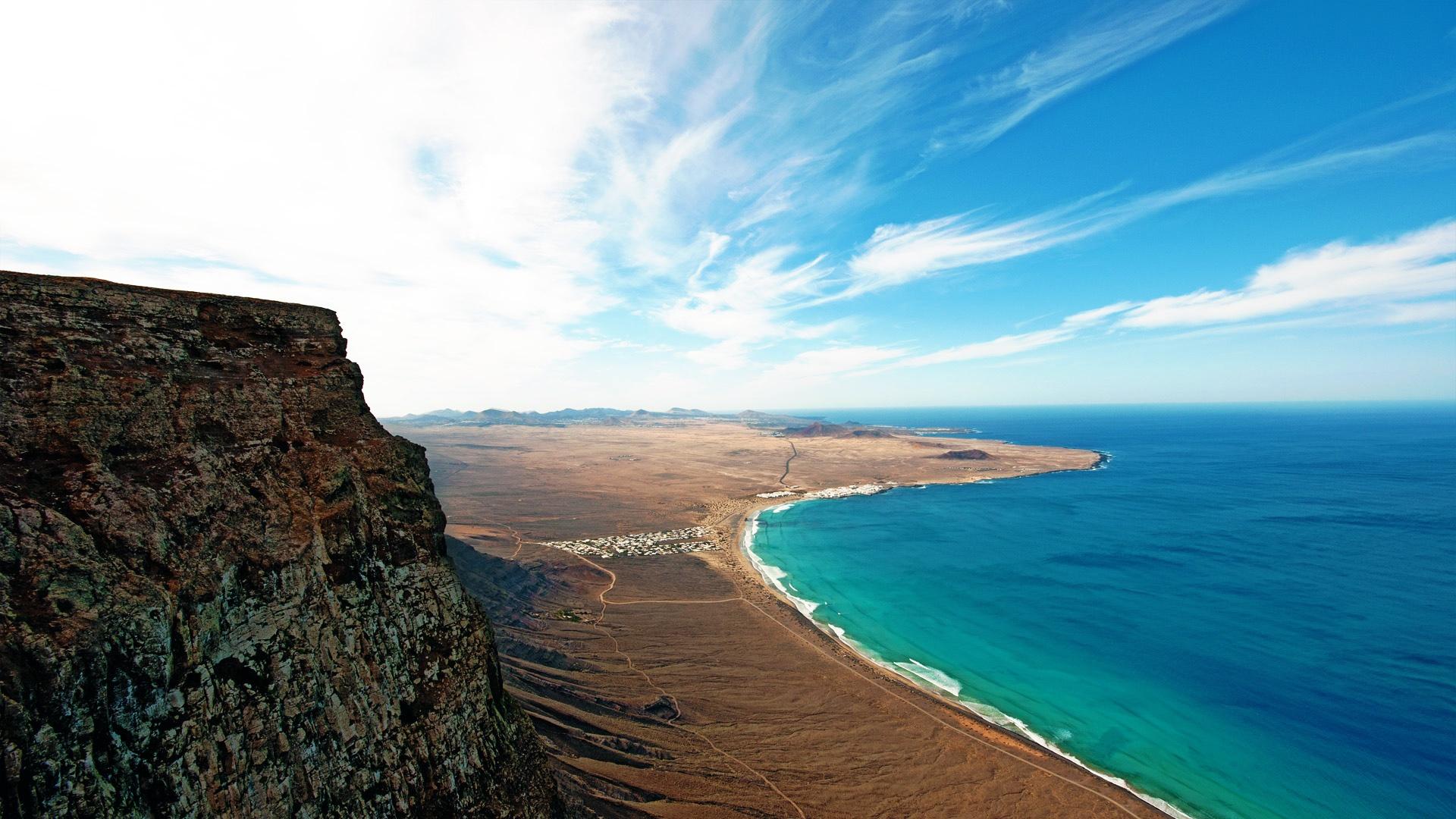 Description Download Lanzarote Island HD Widescreen Beach Wallpaper 1920x1080