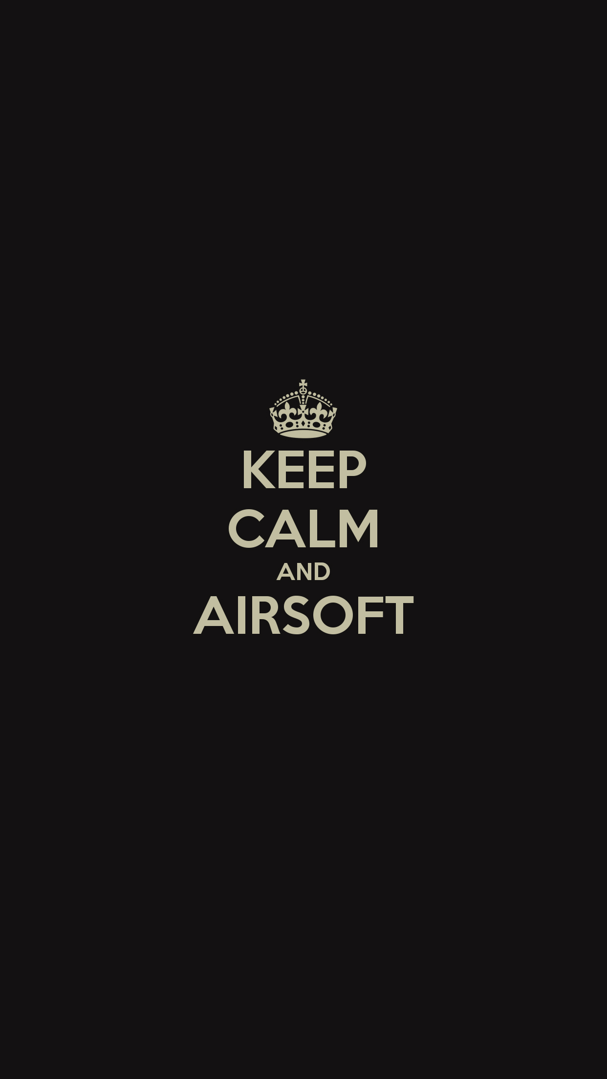 Keep Calm and Airsoft Wallpaper for iPhone X 8 7 6 1242x2208