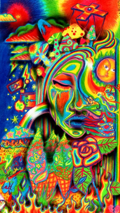 50 dark trippy acid wallpaper on wallpapersafari - Trippy acid pics ...
