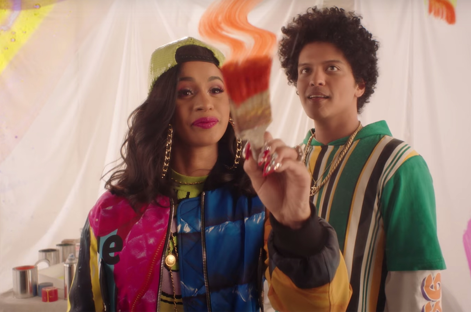 7 Visual 90s Throwbacks in Bruno Mars Cardi Bs Finesse Remix 1548x1024