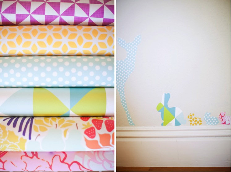 DIY animal wall stickers with removable wallpaper 747x556