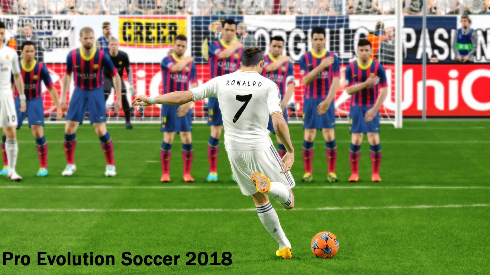 93+] Pro Evolution Soccer 2018 Wallpapers on WallpaperSafari