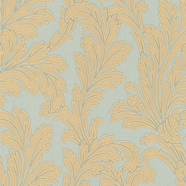 Teal and Gold Leafed Textured Wallpaper   Transitional   Wallpaper 600x600