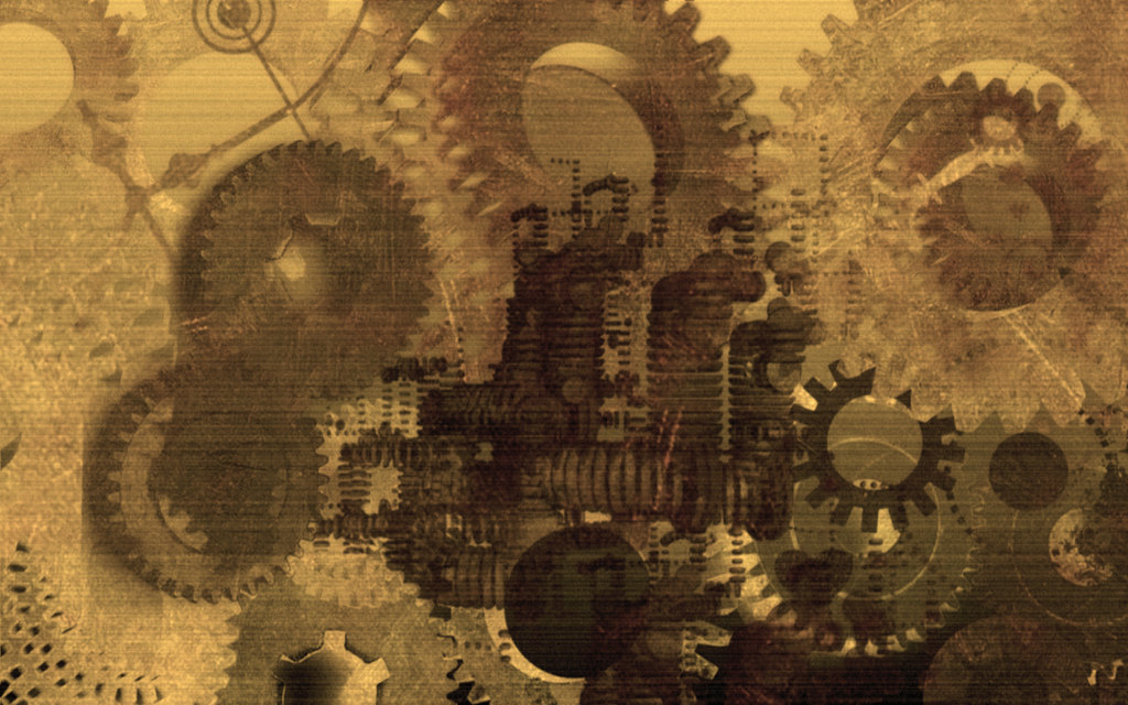 steampunk wallpaper gears 1024x640