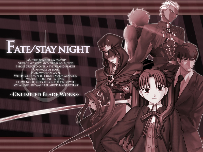 Archer Unlimited Blade Works Route Anime Fate Stay Night HD Wallpaper 800x600