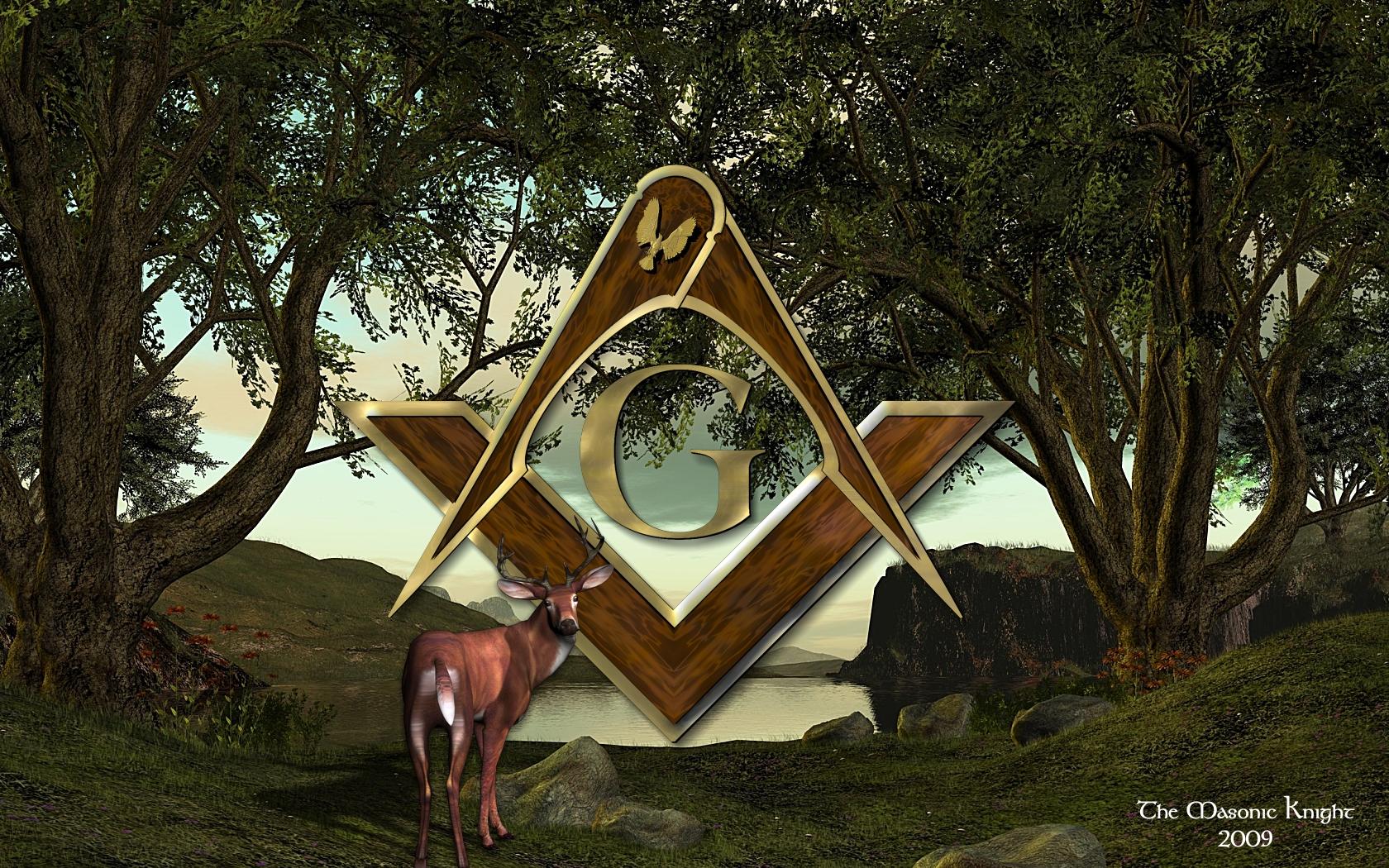 Deer Hunting Masonic Mckim Clipart Freemason Templar Art Image 1767742 1680x1050