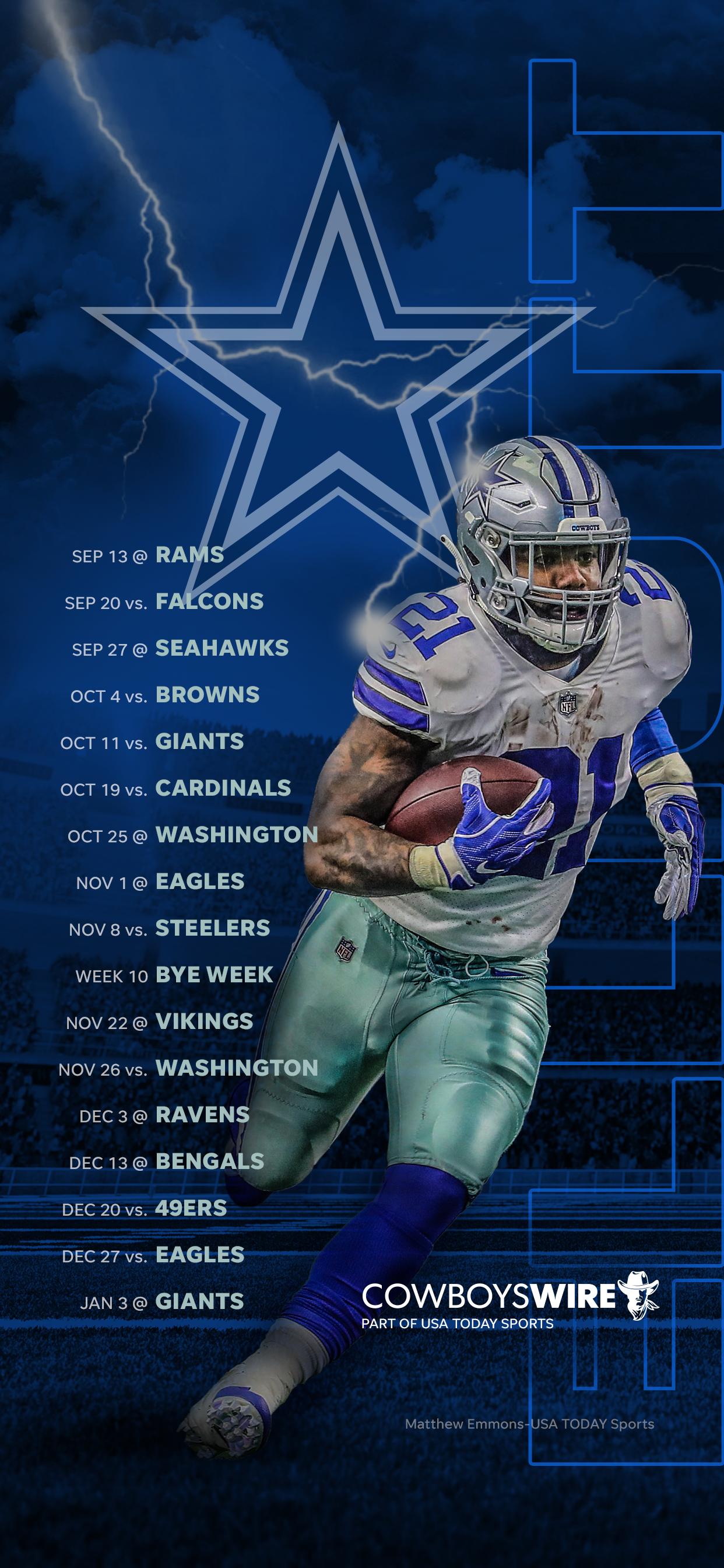 2020 Dallas Cowboys Schedule 1242x2688