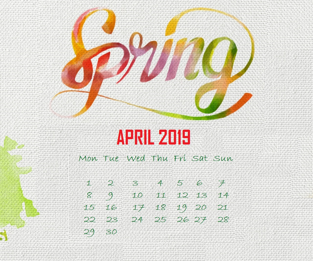 April 2019 Calendar HD Wallpapers Calendar 2019 1280x1069