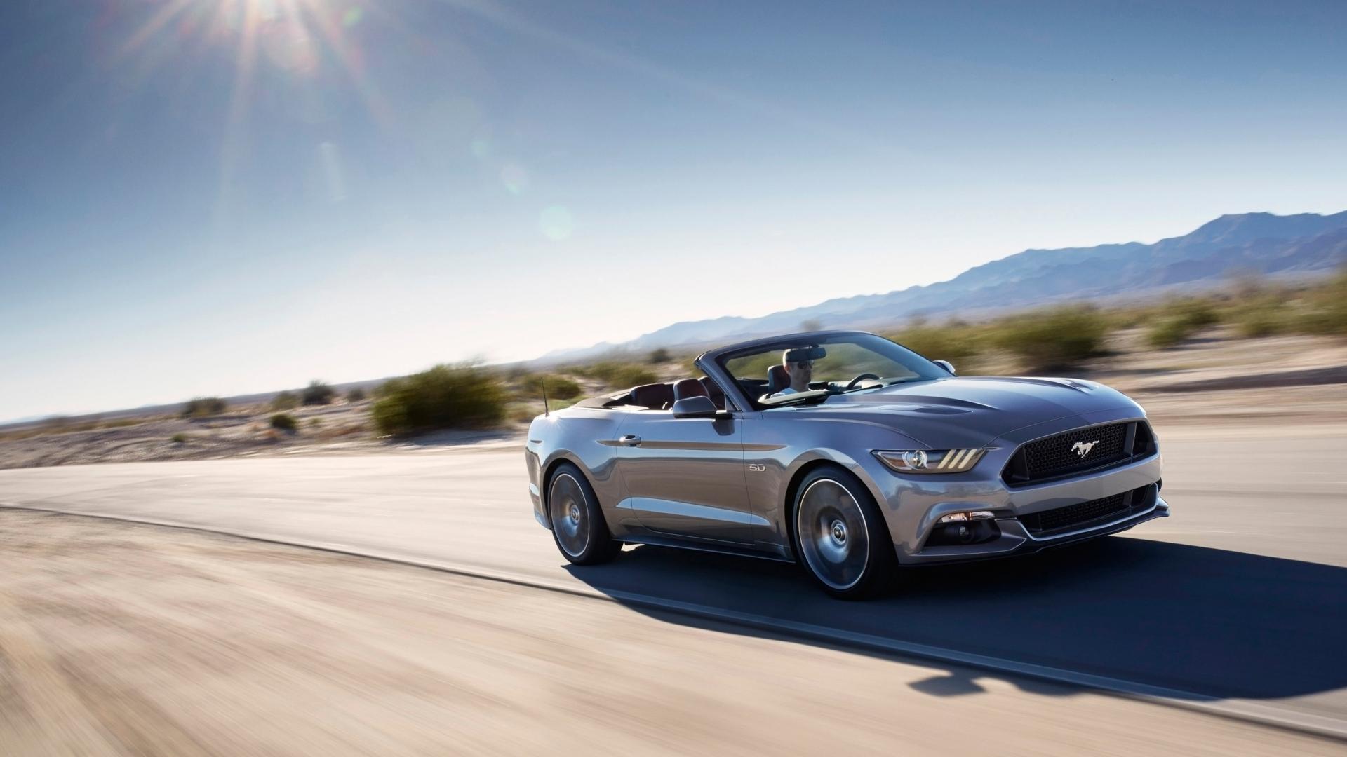 HD Car Desktop Wallpapers   2015 Ford Mustang Convertible 1920x1080