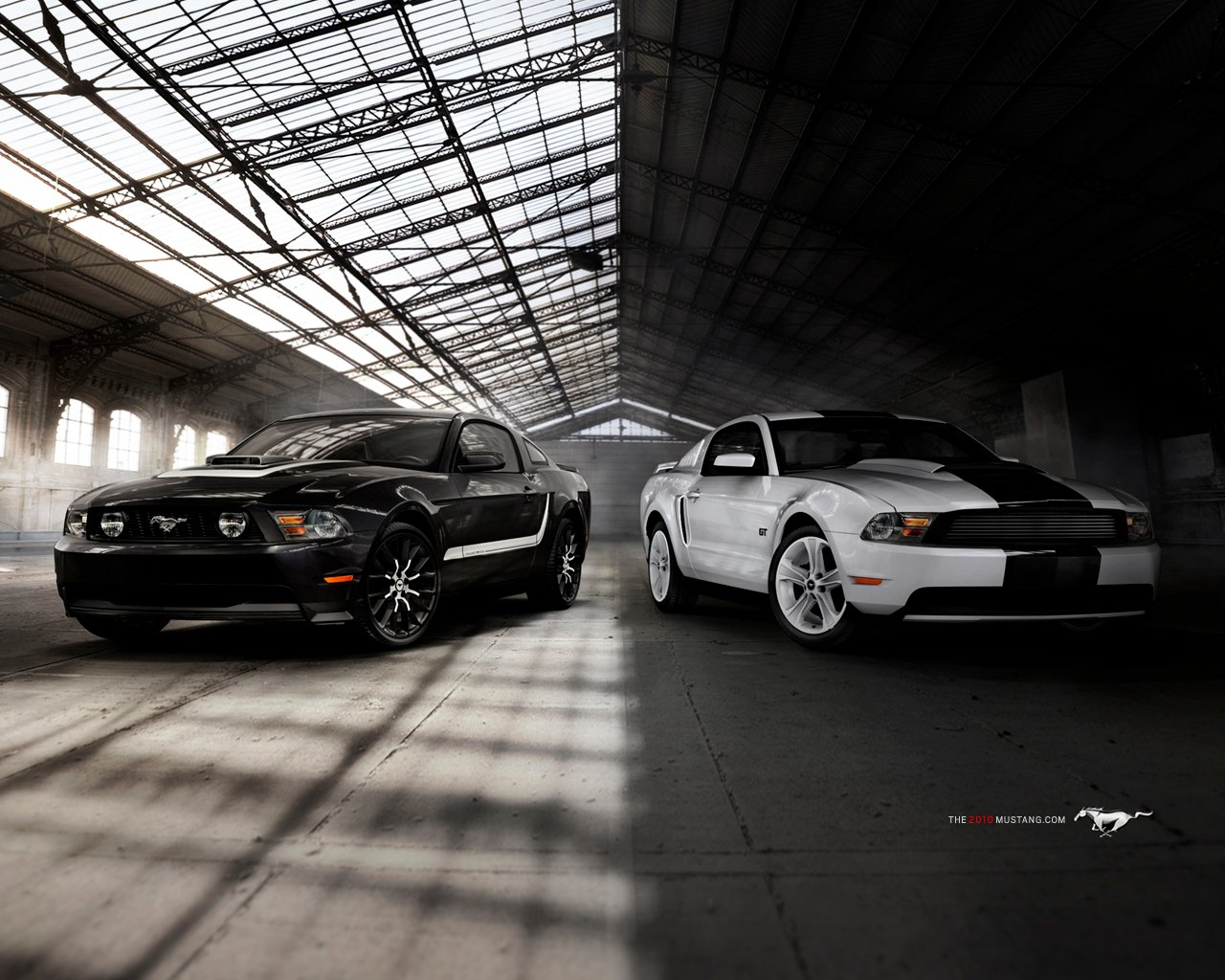 Ford Mustang 2010 ScreenSaver   ScreensaverBasecom 1280x1024