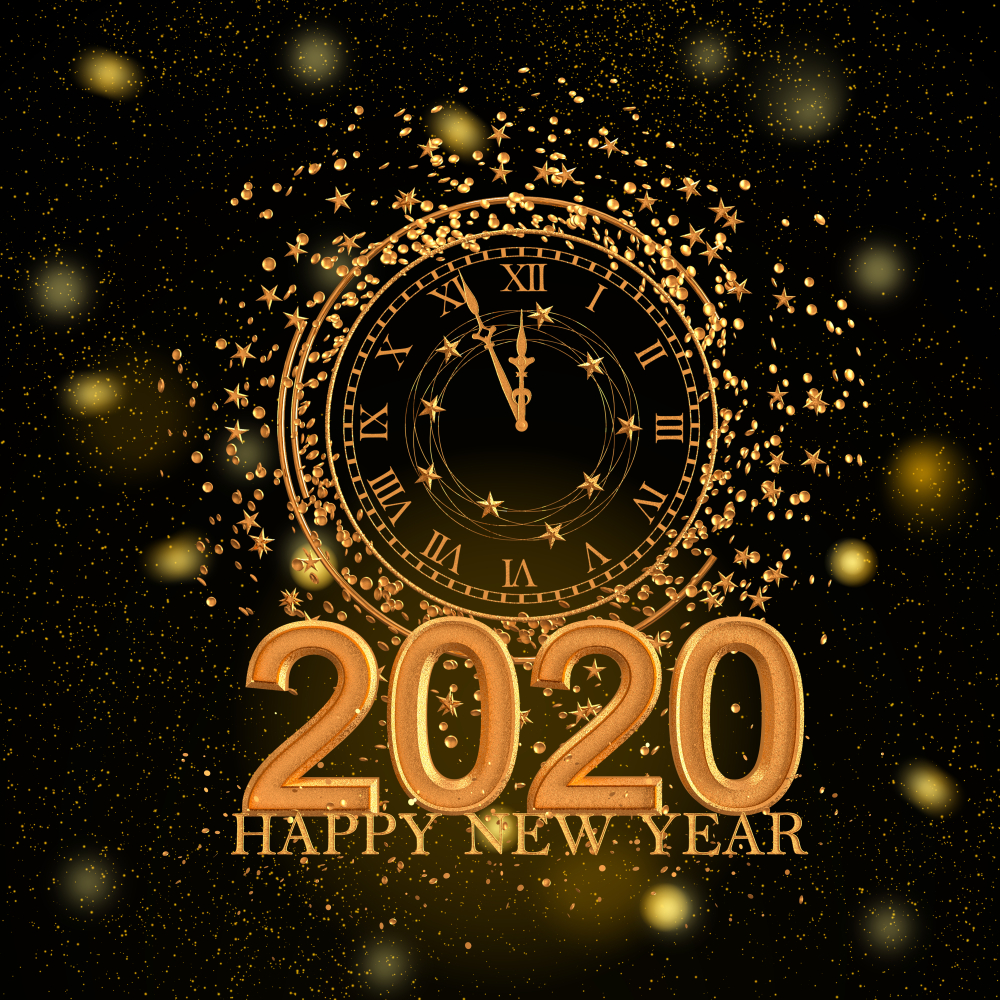 Here we have collected a wide range of happy new year 2020 images 1000x1000