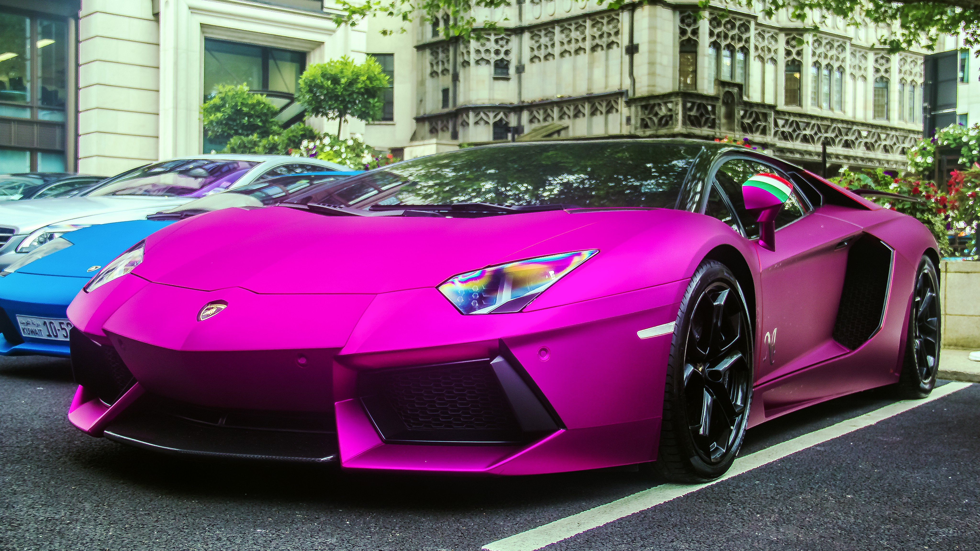 Download Lamborghini Aventador In Pink Wallpapers Hd From Na Hd