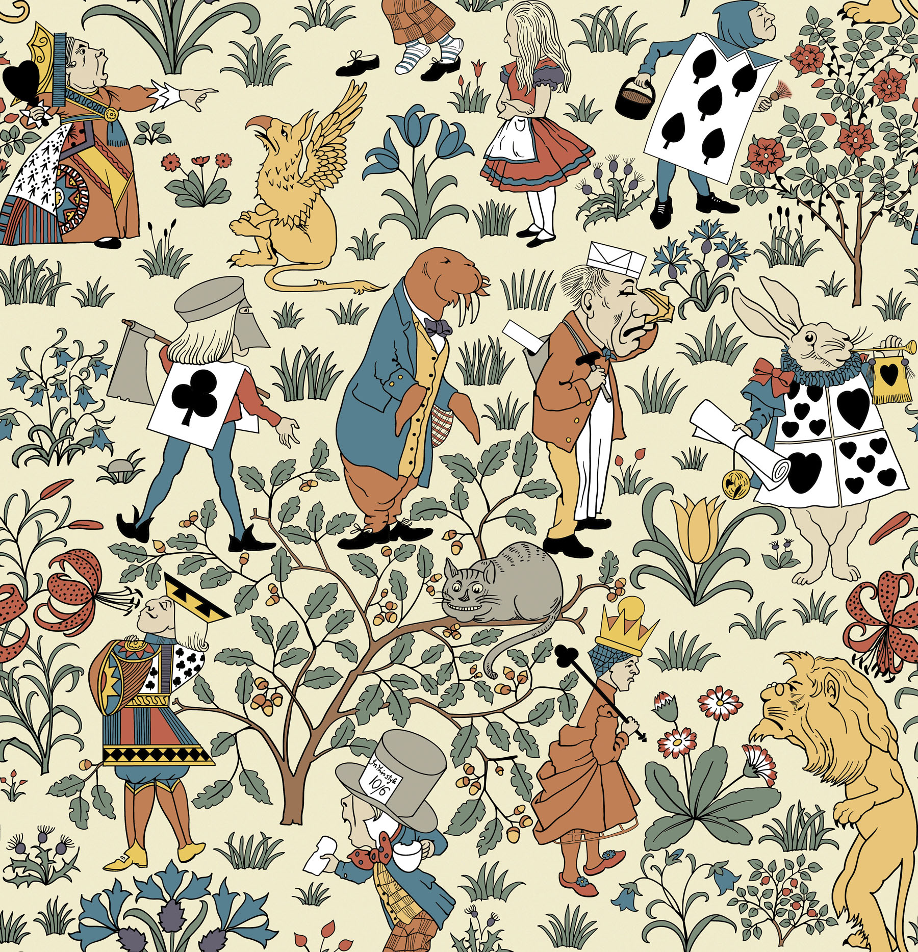 Free Download Alice In Wonderland Single Repeat 1800x1867 For