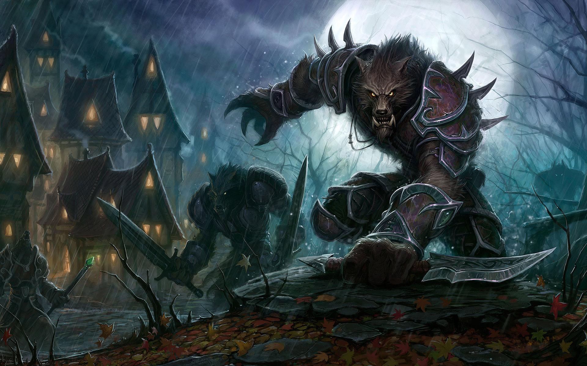 World of Warcraft Worgen desktop wallpaper 1920x1200