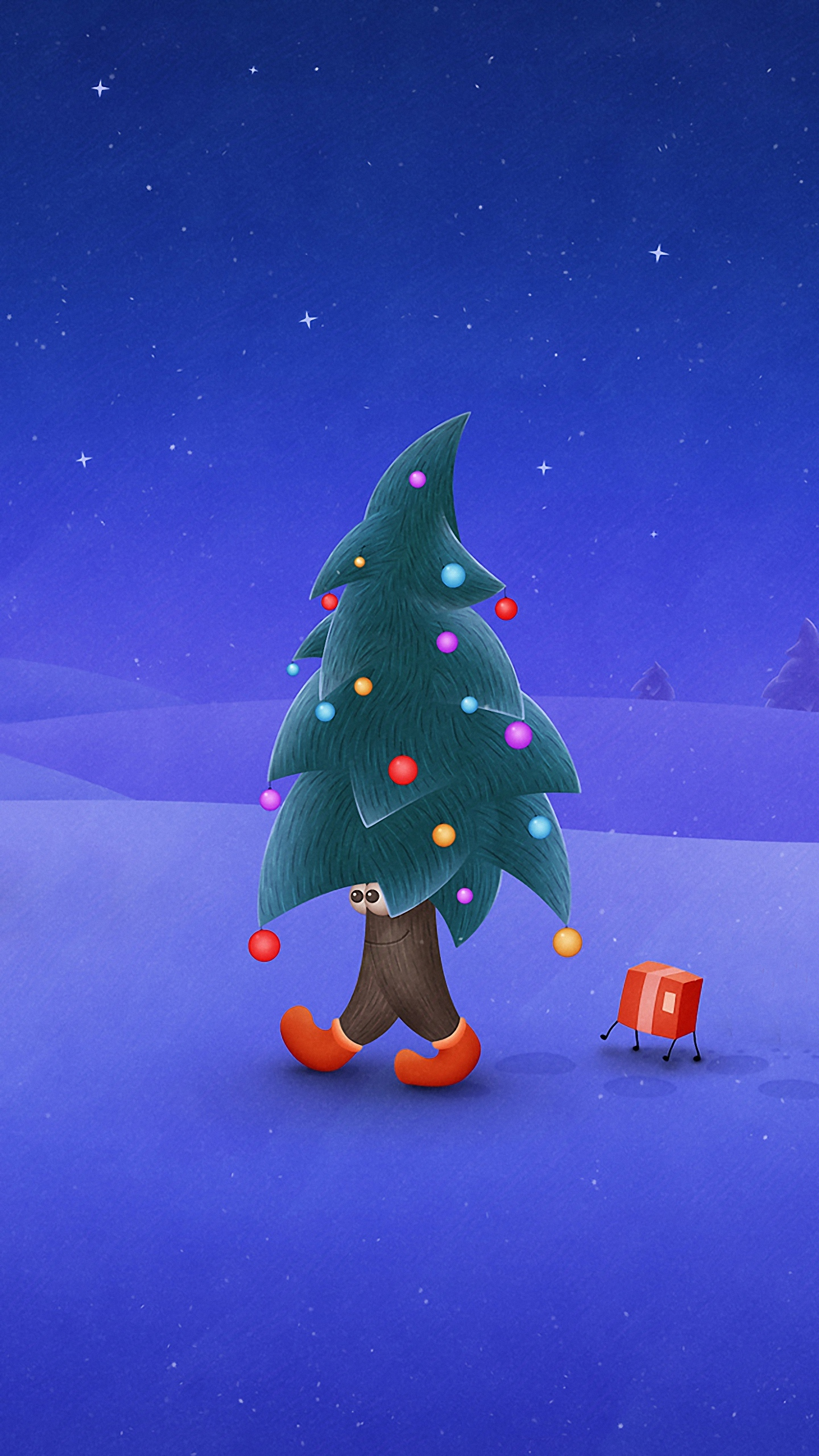 Hd wallpaper mobile phone - 1440x2560 Mobile Phone Wallpapers Quad Hd Funny Christmas Tree