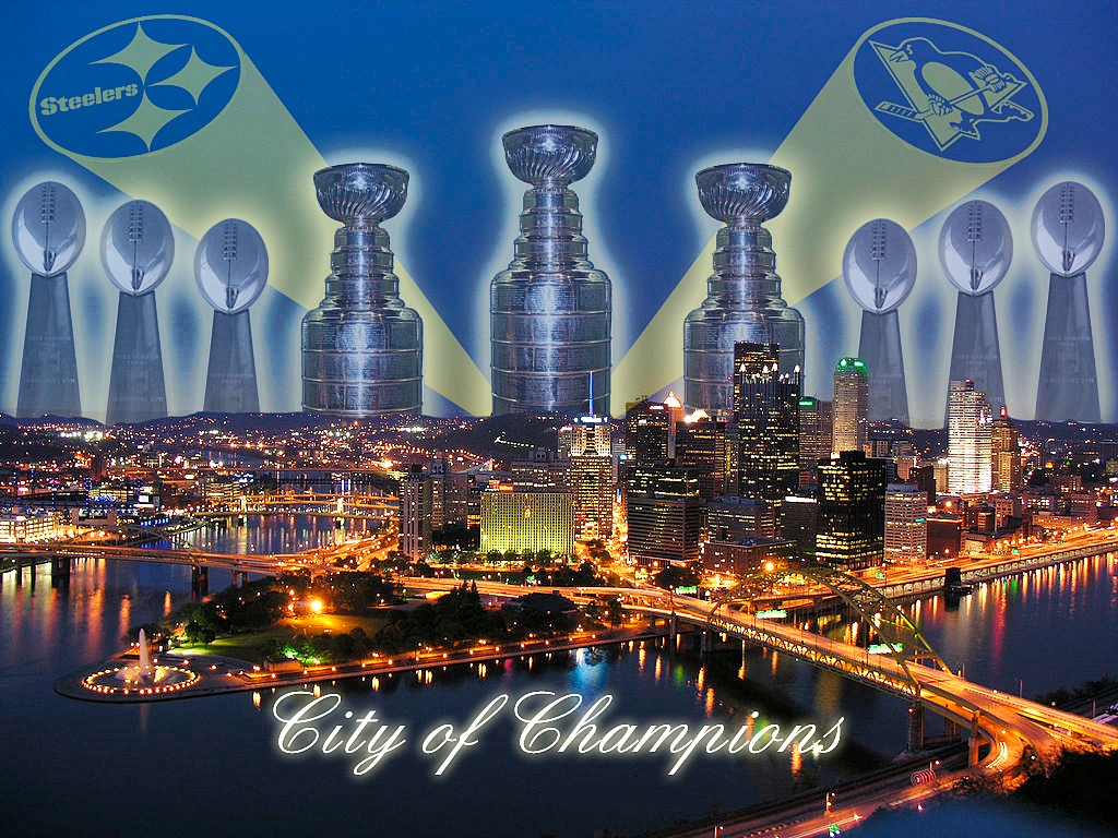 Pittsburgh City of Champions Wallpaper 1024x768