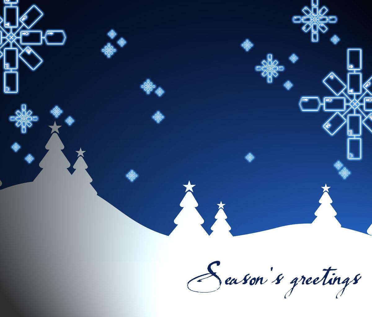 Seasons Greetings Wallpaper
