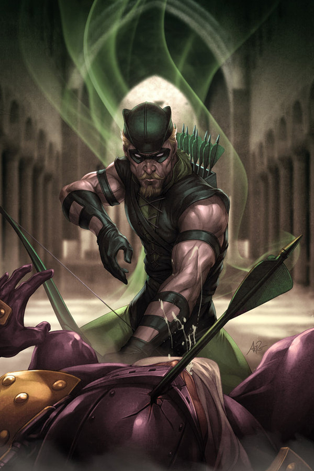 cartoons wallpaper Green Arrow I4 with size 640x960 pixels for iPhone 640x960