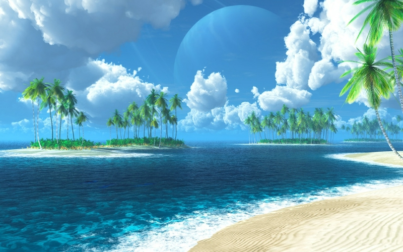 PEACEFUL TROPICAL ISLAND Nature Beaches HD Desktop Wallpaper 800x500