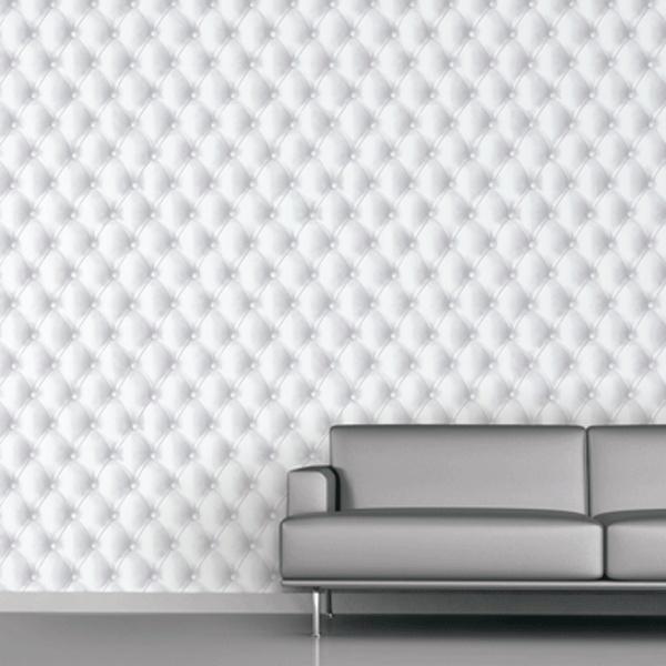 Leather Wallpaper   Koziel Kapyton trompe loeil pure white 600x600