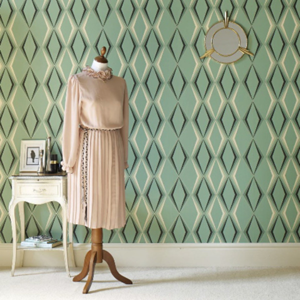 Retro Wallpaper Makes Walls Come Alive Decor Girl 600x600