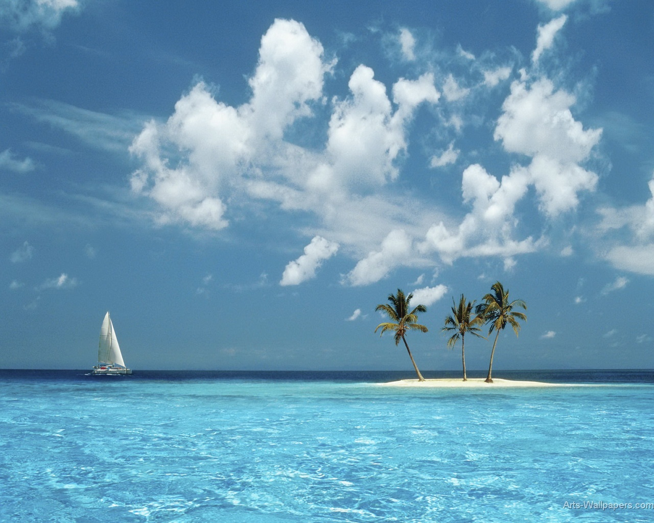 Paradise Wallpaper Art Print Poster Tropical Paradise Wallpapers 1280x1024