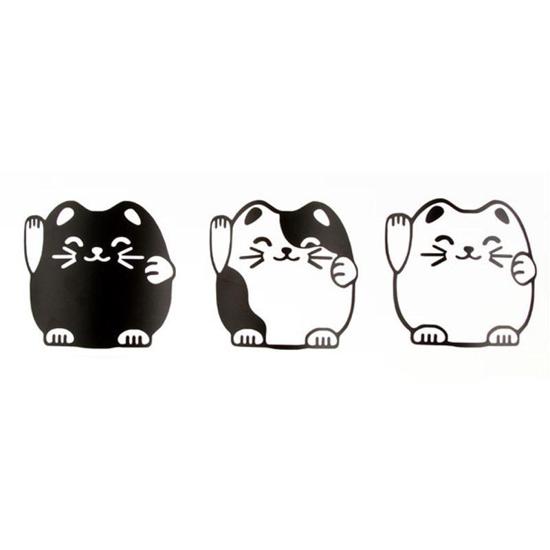 Big discount E7552 cartoon lucky cat wallpaper wall stickers 3 Gaga 800x800