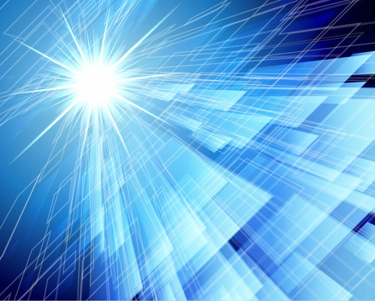 Abstraction Blue Background In High Tech Style Vector Graphics 747x599