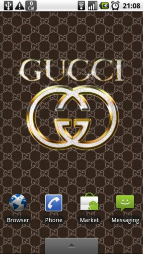 View bigger   GUCCI GOLD Wallpapers Clock for Android screenshot 288x512
