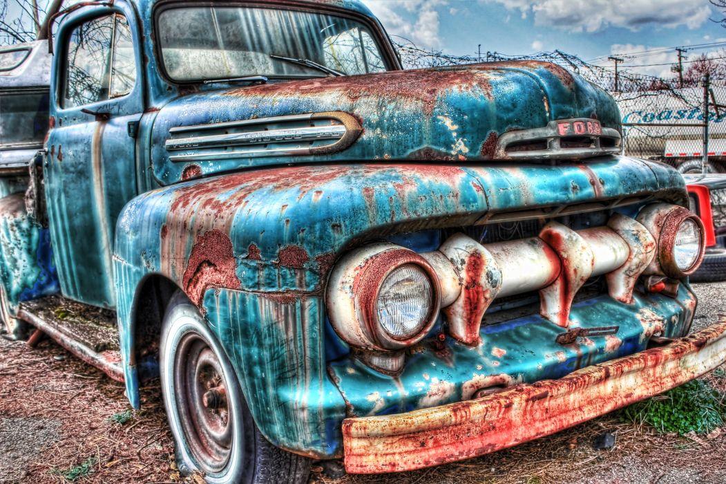 1951 Ford F100 pickup retro f 1 hot rod rods retro r wallpaper 1051x700