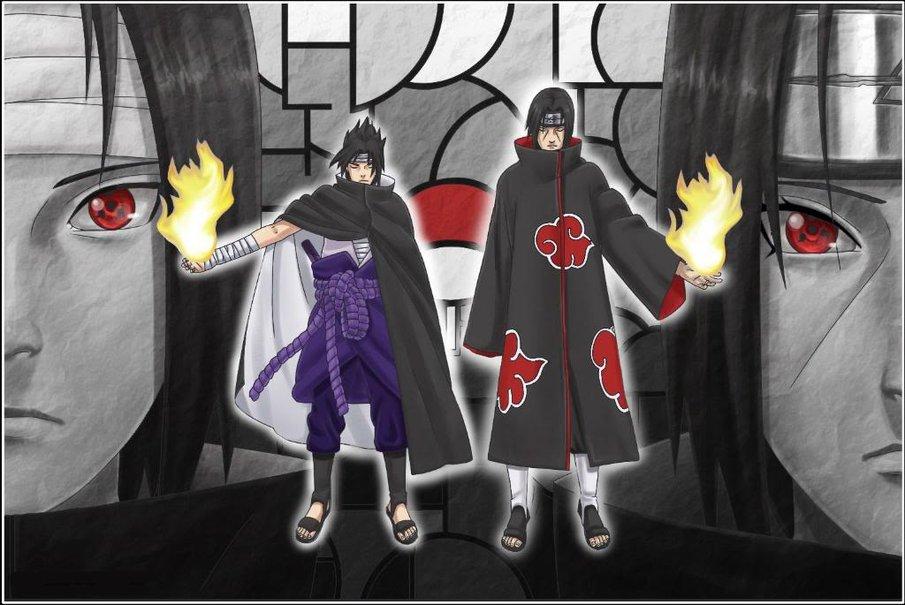 Cartoon Wallpaper Sasuke Vs Itachi Wallpaper: Itachi And Sasuke Wallpaper