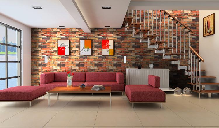 Brick Textured for Kitchen Living Room Bed Room Vinyl Wallpaper eBay 750x439
