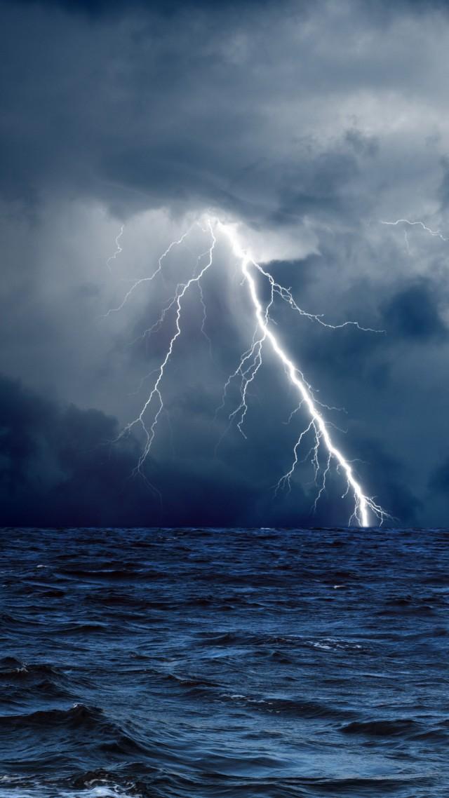 Wallpaper Sea 5k 4k wallpaper 8k ocean storm lightning 640x1138
