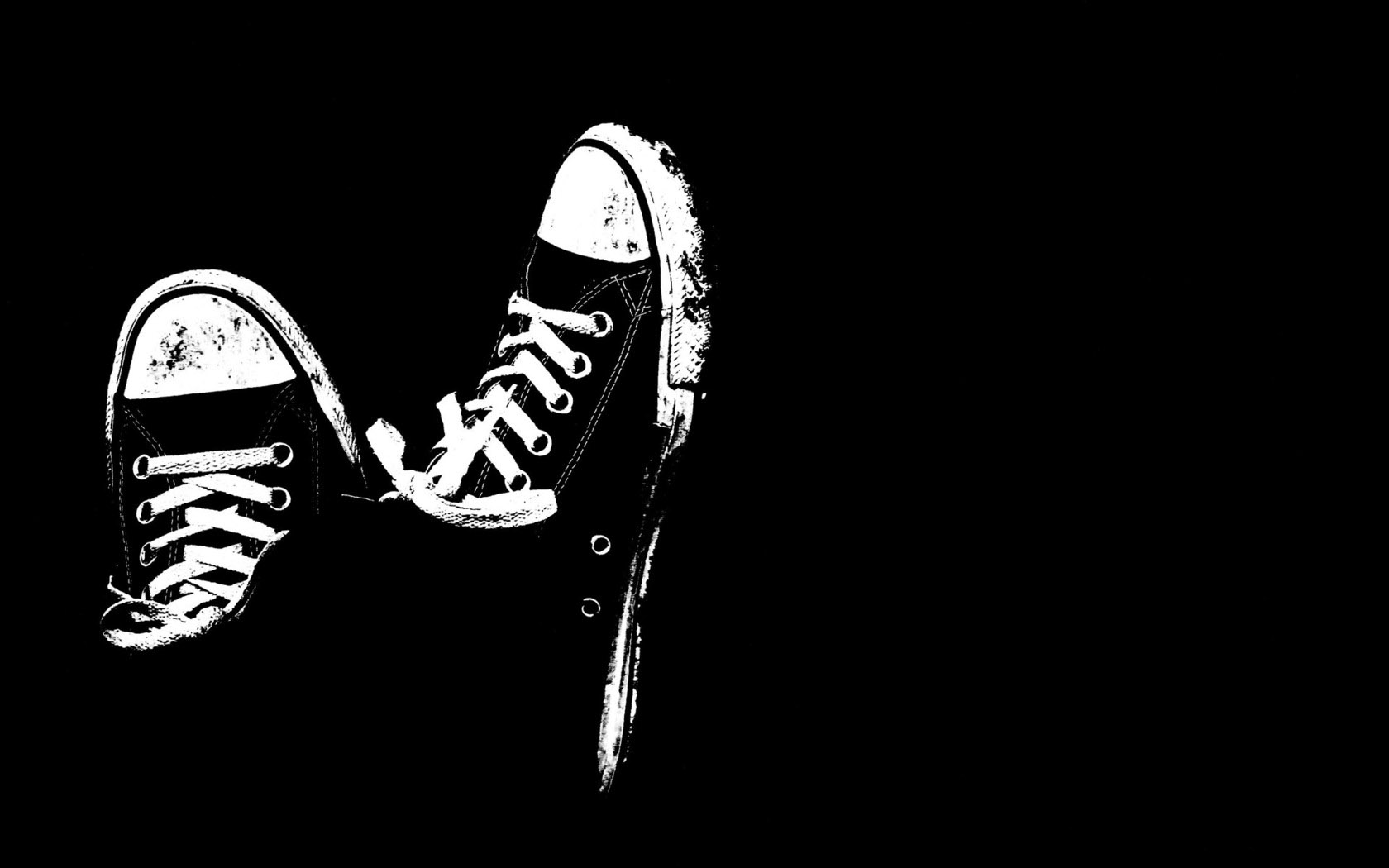 wallpaper black and white HD 1680x1050
