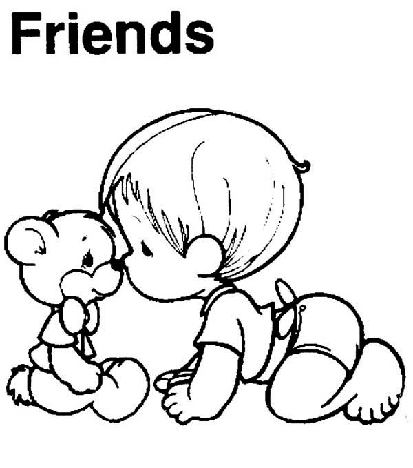 Free Download Best Friends Coloring Pages Coloring Pages [600x679