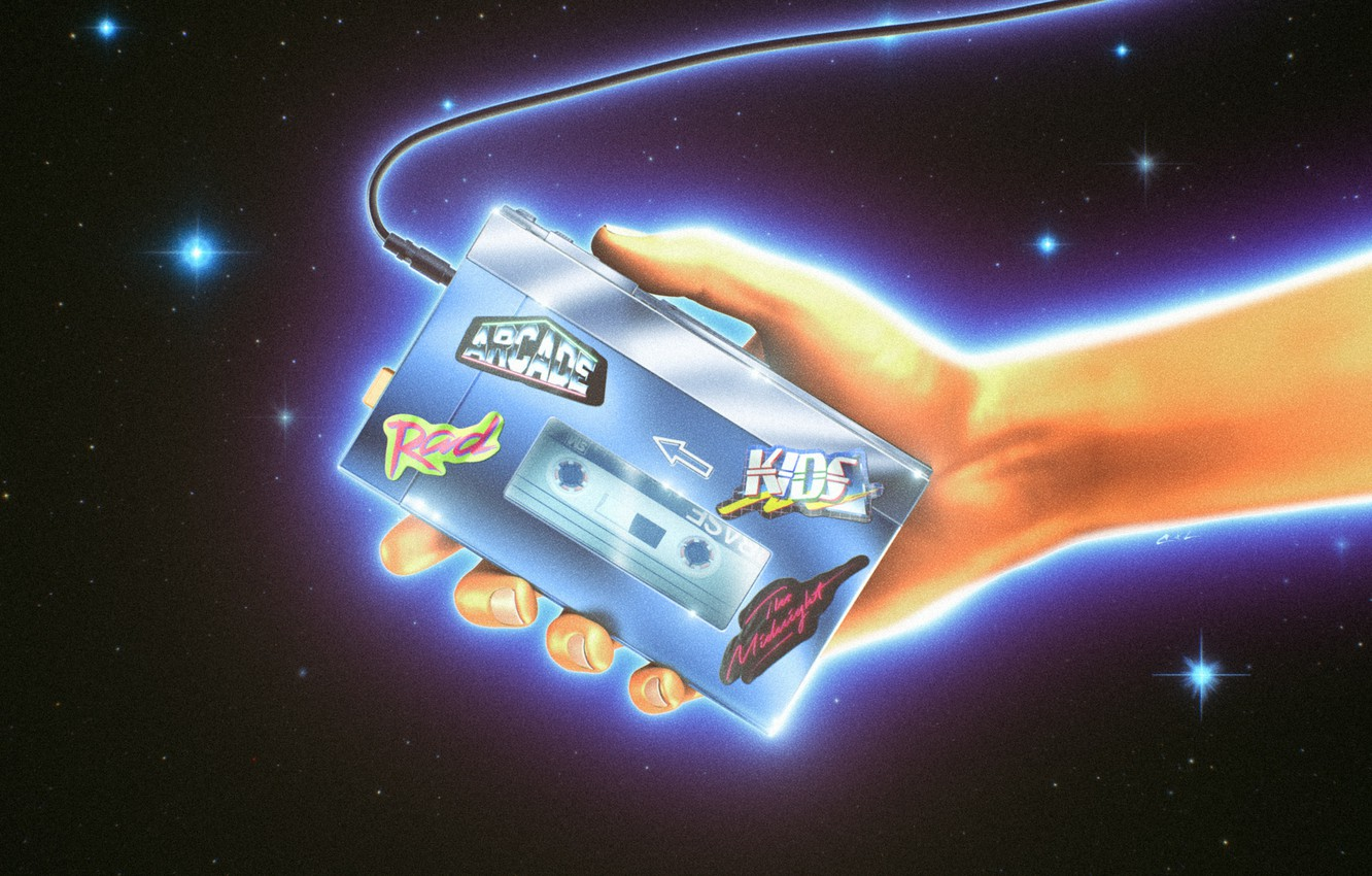 Wallpaper Music Style Hand Background 80s Style Player 1332x850