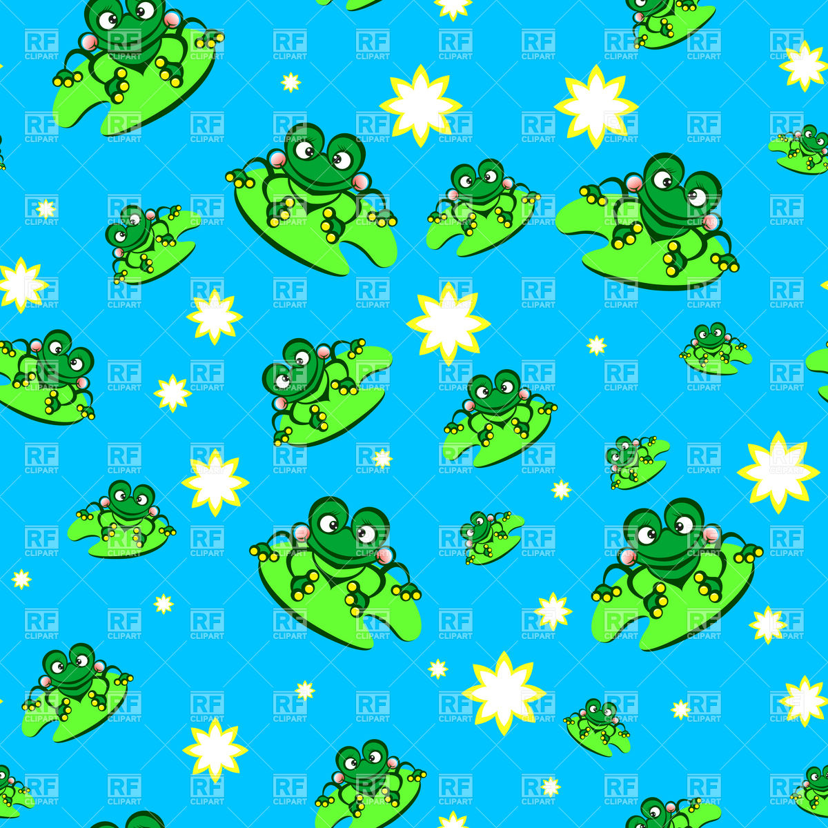 Cute cartoon frog   seamless background Backgrounds Textures 1200x1200