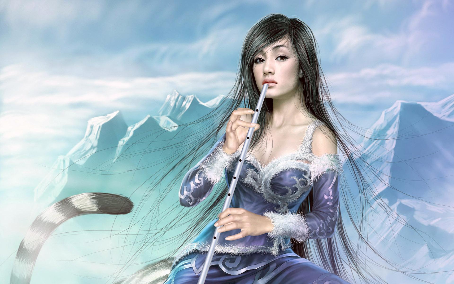 48 3d Desktop Wallpaper Fantasy Girl On Wallpapersafari
