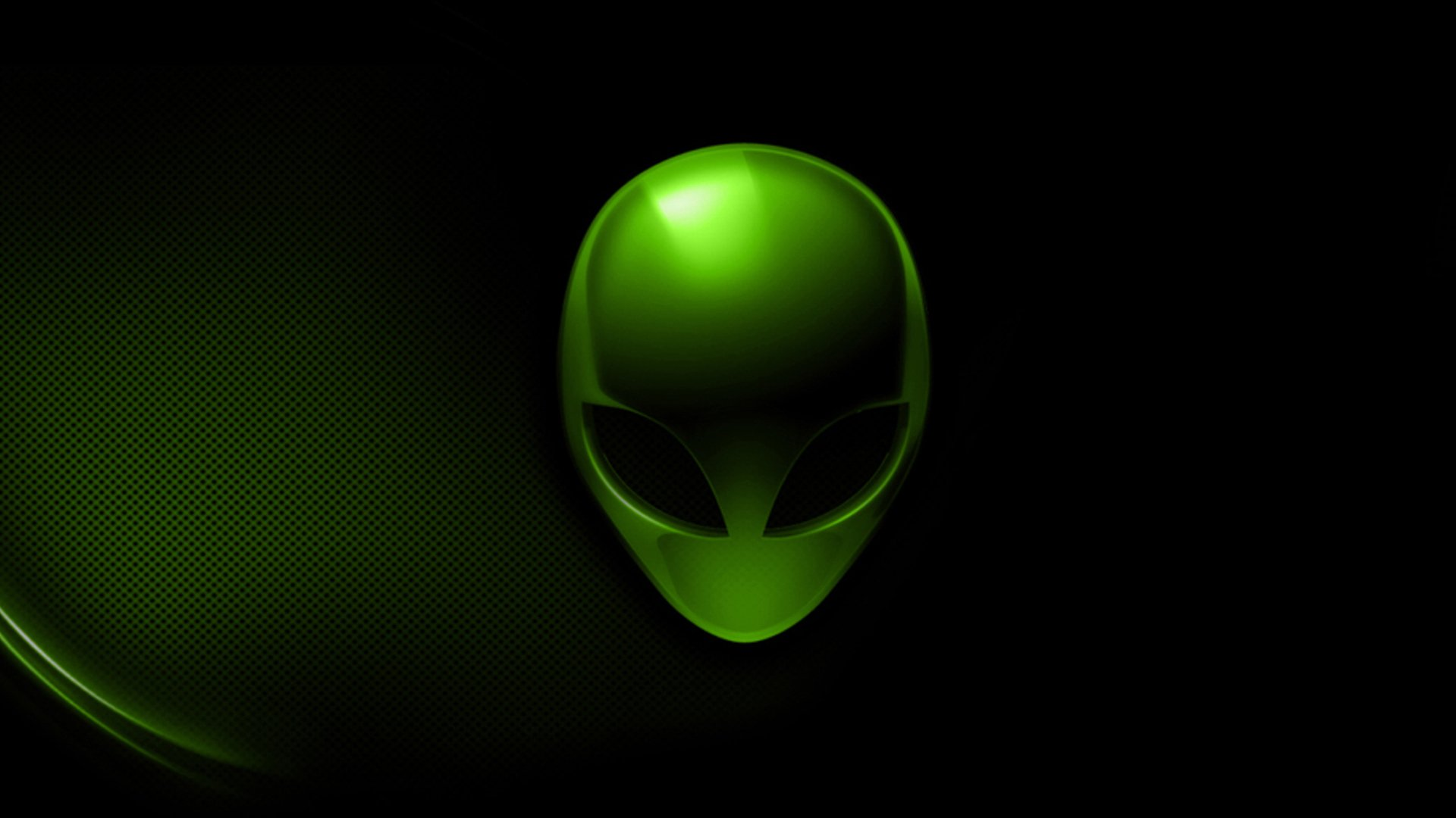 alienware dark green logo hd 1920x1080 1080p wallpaper compatible for 1920x1080