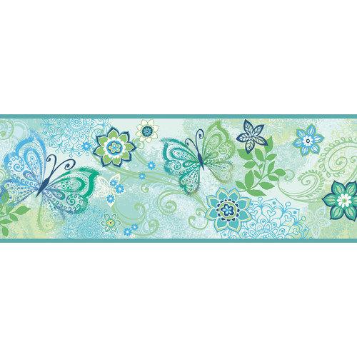 Kids Fantasia Boho Butterflies Scroll Wallpaper Border   Walmartcom 500x500