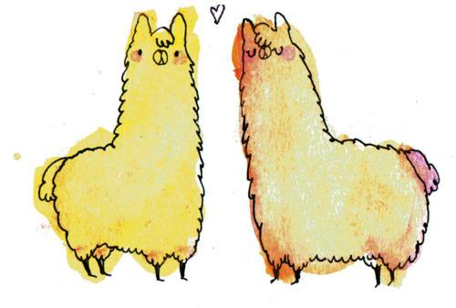 Kawaii Llama for Pinterest 500x338