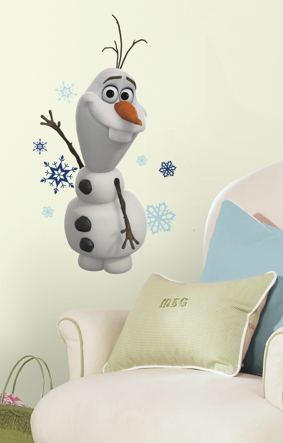 Home Disney Frozen the Movie Frozen Olaf The Snow Man Wall Stickers 959x1500