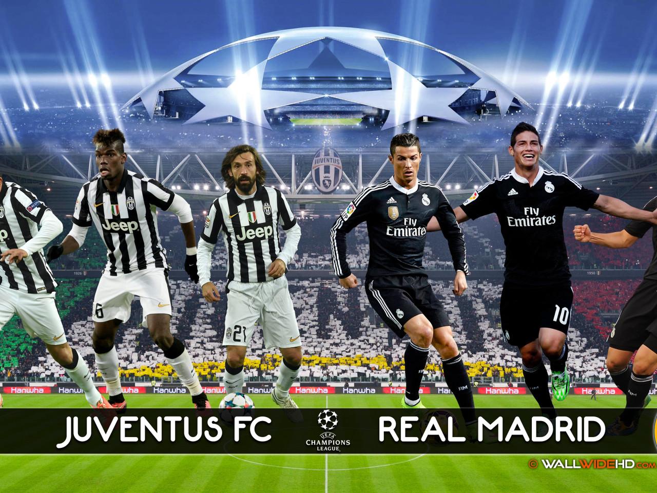 Juventus FC vs Real Madrid CF HD Wallpaper 3201 1280x960