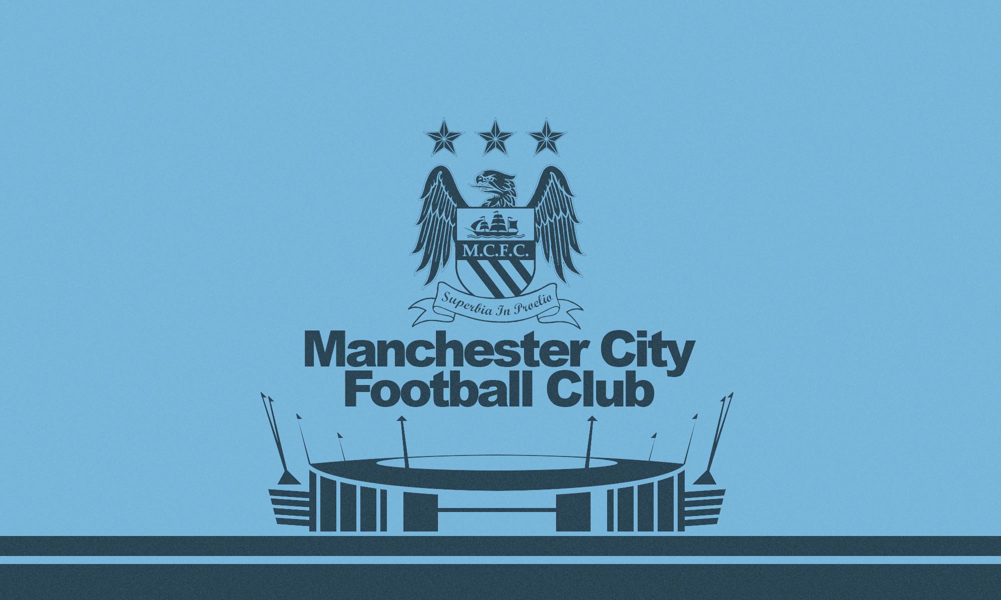 Manchester City Logo Wallpaper 2014 Background HD Wallpaper for 2000x1200