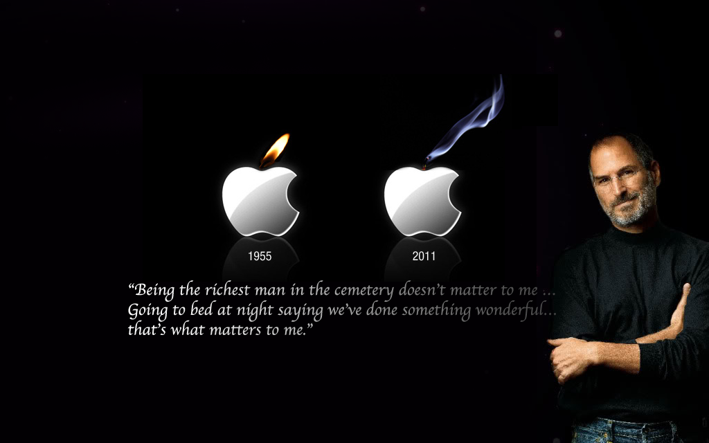 Top 5 Tribute To Steve Jobs Wallpapers 1024x640