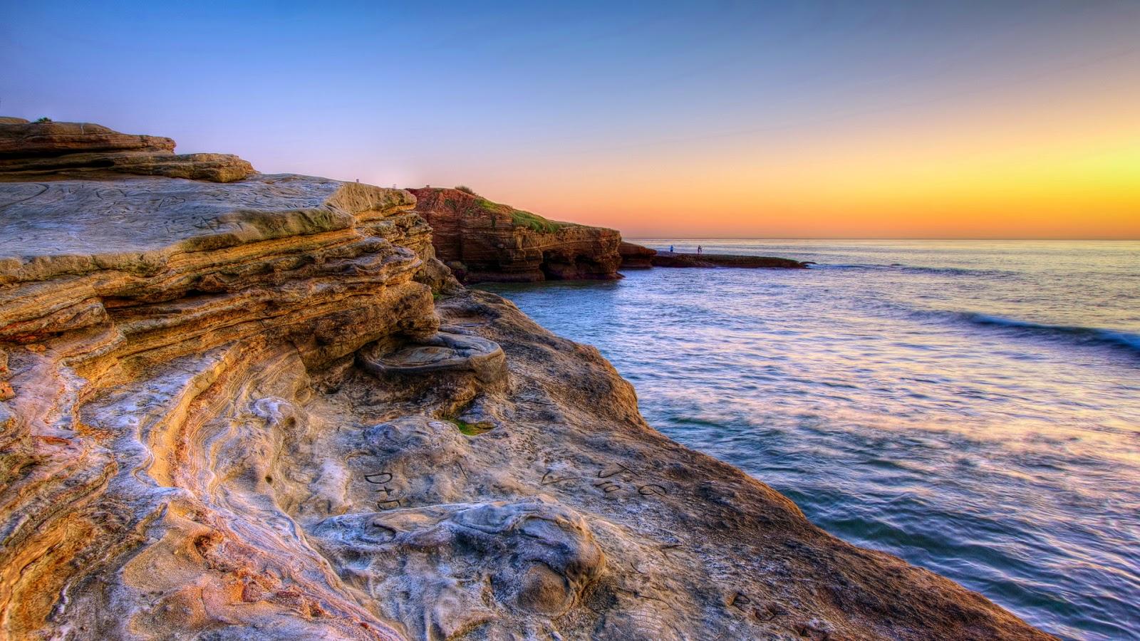 Wallpaper Beautiful Rocky Seashore HD San Diego   Near of San Diego 1600x900