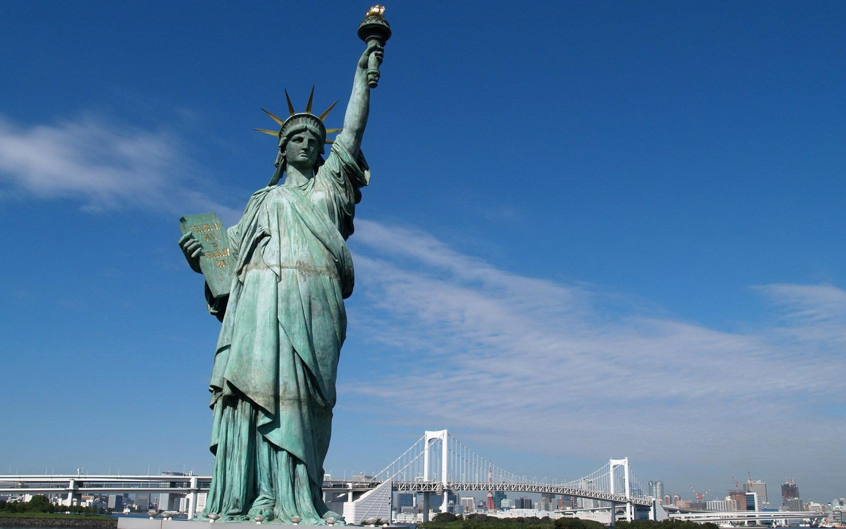 Download Statue of Liberty New York City wallpaper 1680x1050